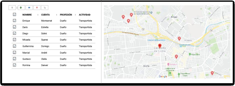 Selección múltiple de geolocalización en Tracker CRM
