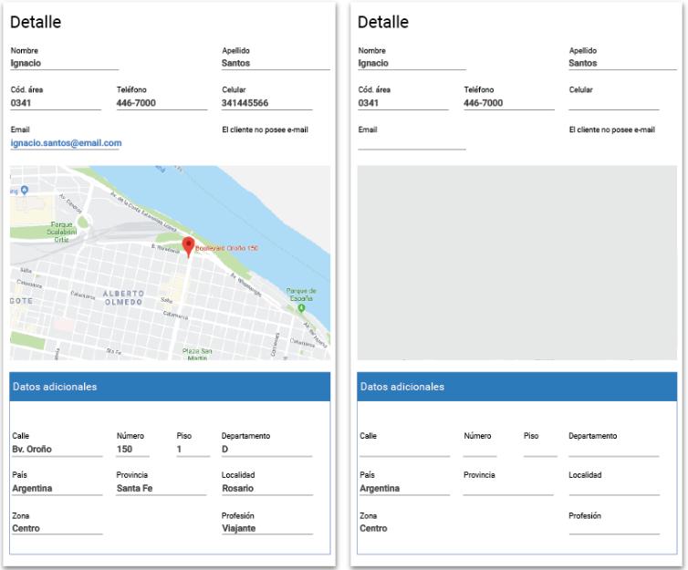 Tracker CRM con datos de geolocalización
