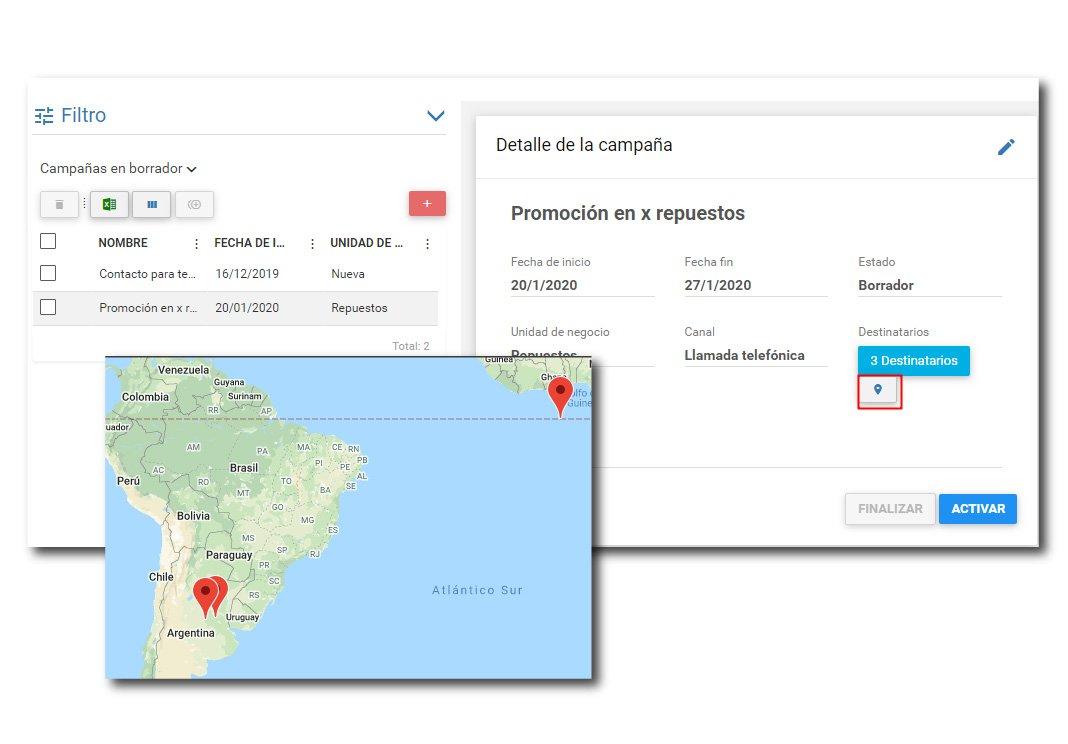 Tracker CRM | ¿Cómo ver la localización de cada contacto?